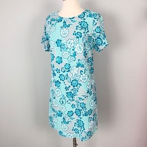 Lucy Love | Blue Rose Floral Shift Dress